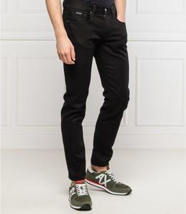 Czarne jeansy Armani Exchange z wełny