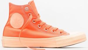 Pomarańczowe trampki Converse wysokie sznurowane