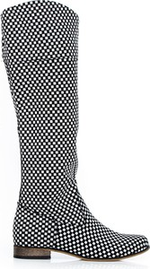 Kozaki Zapato ze skóry z płaską podeszwą w stylu boho