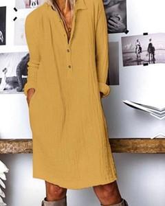 Żółta sukienka Kendallme prosta