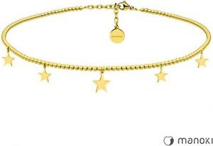 Manoki Niezwykły naszyjnik choker ozdobiony gwiazdkami, kolor złoty
