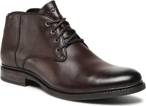 Brązowe buty zimowe Lasocki sznurowane