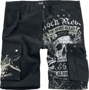 Czarne spodenki Rock Rebel by EMP