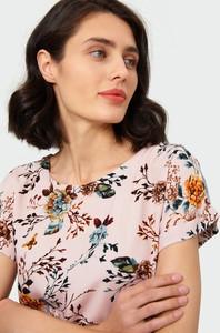 Różowa bluzka Greenpoint z krótkim rękawem