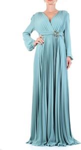 Sukienka Guess z długim rękawem maxi