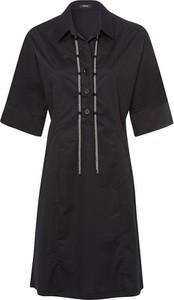 Czarna sukienka Riani mini z krótkim rękawem w stylu casual