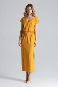 Żółta sukienka Figl maxi