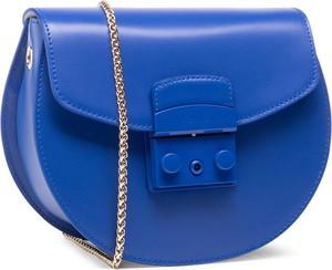 Niebieska torebka Furla matowa na ramię mała