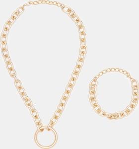Sinsay - Łańcuch na szyję i nadgarstek - Złoty