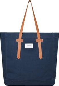 Niebieska torebka Sandqvist z bawełny w młodzieżowym stylu