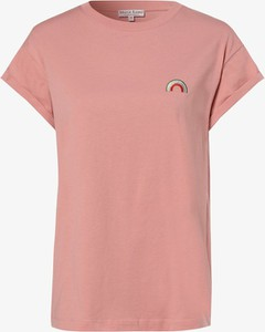 Różowy t-shirt Marie Lund z krótkim rękawem z dżerseju