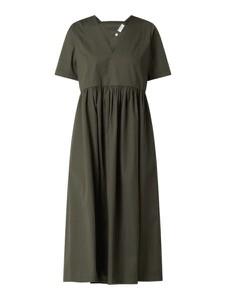 Sukienka Marc O'Polo DENIM z bawełny z dekoltem w kształcie litery v