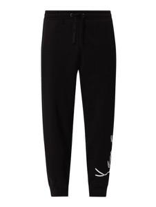 Czarne spodnie Karl Kani z bawełny