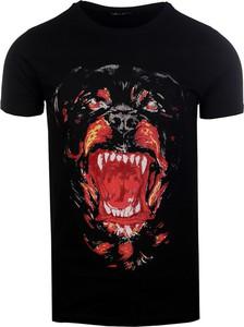 Czarny t-shirt Horry w street stylu z krótkim rękawem