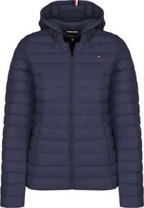Niebieska kurtka Tommy Hilfiger krótka w stylu casual