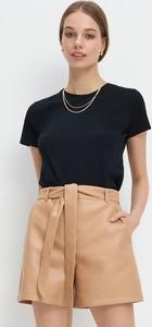 Czarny t-shirt Mohito z bawełny z krótkim rękawem
