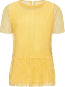 Żółta bluzka dziecięca Name it z bawełny