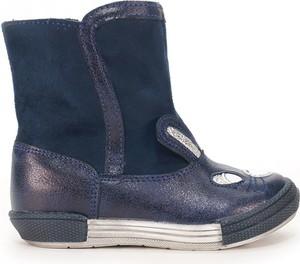 Granatowe buty dziecięce zimowe Kornecki