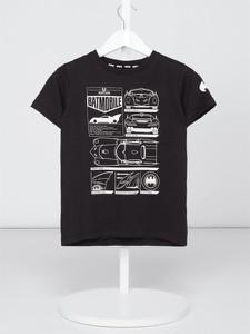 Czarna koszulka dziecięca Review For Kids z krótkim rękawem