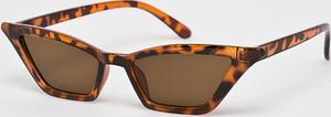 Pomarańczowe okulary damskie Answear