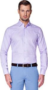 Fioletowa koszula LANCERTO z tkaniny