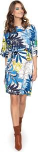 Sukienka L'AF z satyny z długim rękawem