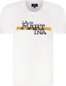 T-shirt La Martina z krótkim rękawem w młodzieżowym stylu