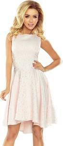 Sukienka NUMOCO z żakardu bez rękawów z okrągłym dekoltem