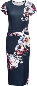 Sukienka bonprix BODYFLIRT boutique z krótkim rękawem midi