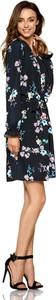 Granatowa sukienka Lemoniade z długim rękawem mini w stylu casual