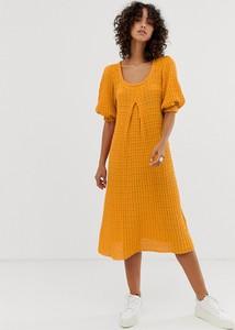 Pomarańczowa sukienka Asos Design oversize midi