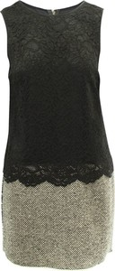 Czarna sukienka Dolce & Gabbana bez rękawów z okrągłym dekoltem mini