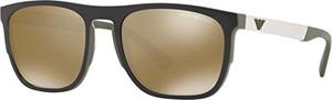 Ray-Ban Emporio Armani Okulary przeciwsłoneczne dla mężczyzn 0ea4114 56747i, zielony (Olive/Brown Silver), 55
