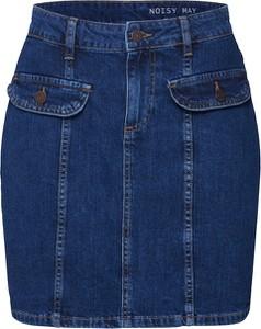 Niebieska spódnica Noisy May w stylu casual mini z jeansu