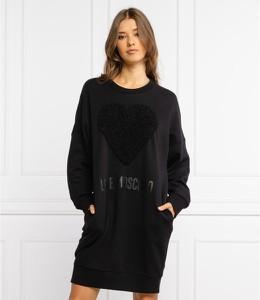 Czarna sukienka Love Moschino w stylu casual mini