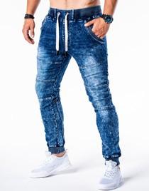 Jeansy ombre clothing z poliestru bez wzorów
