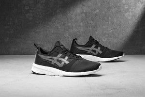 Czarne buty sportowe ASICS sznurowane