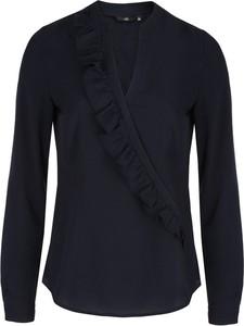Bluzka Nife z długim rękawem z dekoltem w kształcie litery v w stylu casual