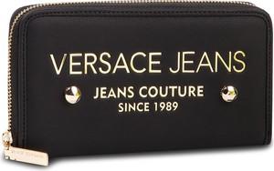 e85491ec15c9d Czarny portfel Versace Jeans ze skóry
