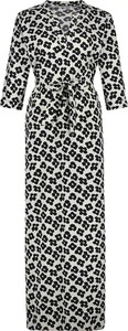 Sukienka Penn&ink N.y z dekoltem w kształcie litery v maxi z długim rękawem