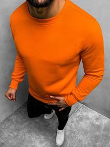 Pomarańczowa bluza ozonee.pl z bawełny