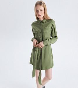 Sukienka Cropp mini szmizjerka w młodzieżowym stylu
