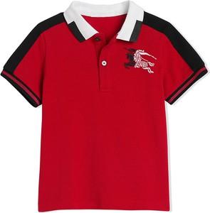Czerwona koszulka dziecięca Burberry Kids