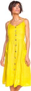 Sukienka Toutes En Lin z dekoltem w kształcie litery v