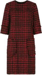 Czerwona sukienka Dolce & Gabbana mini w stylu casual