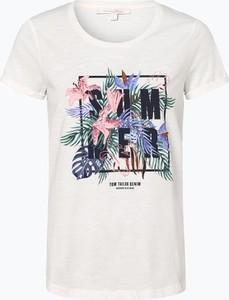 T-shirt Tom Tailor Denim z okrągłym dekoltem