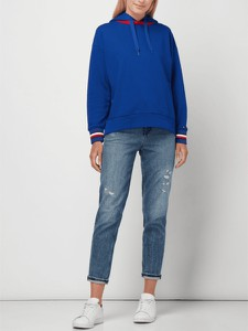 Niebieska bluza Tommy Hilfiger z bawełny krótka