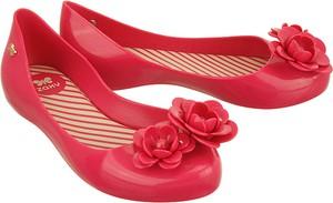 Czerwone balerinki Zaxy