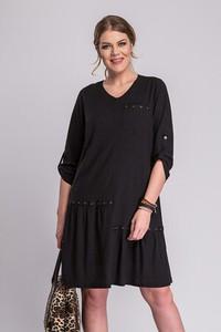 Sukienka La Venne z długim rękawem asymetryczna mini