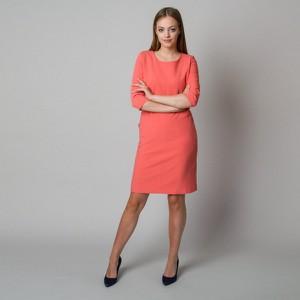 Czerwona sukienka Willsoor z tkaniny z okrągłym dekoltem